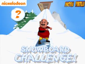 Snowboard Challenge-Motu Patlu