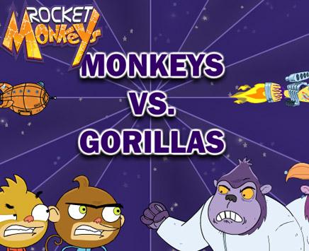 Monkey vs Gorilla