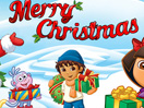 Christmas e-card - Dora the explorer