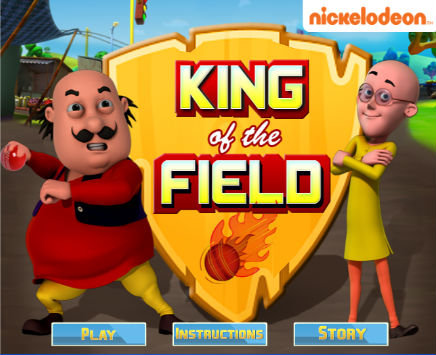 Play King of the Field. on nickindia.com. Help Motu become the king of  the field by throwing the ball at the correct fielder.