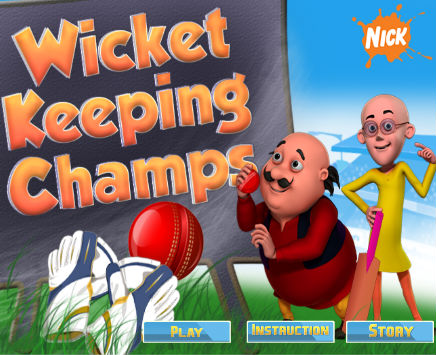 Play Wicket Keeping Champ on nickindia.com. Become a wicket keeping champ with Motu Patlu! Play the game NOW!