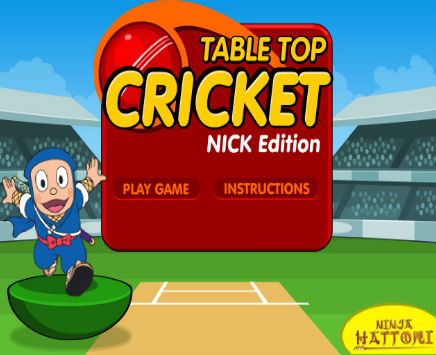 Play Ninja Hattori: Table Top Cricket Game on nickindia.com. Ninja Hattori: Table Top Cricket allows you to play cricket in a new and fun way with Nick India's very own Ninja Hattori.
