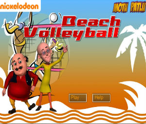 Motu Patlu Beach Volleyball