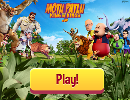 Help Motu & Patlu save and pass through the jungle by taking power ups on the way. Make sure you don't collide with Narsimha