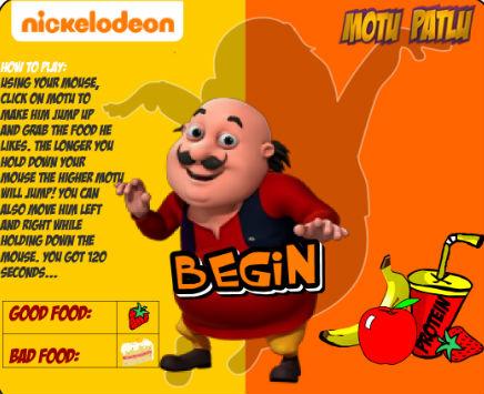 Play Motu Patlu: Hungry Motu on nickindia.com. Play Motu Patlu: Hungry Motu to help Motu jump and catch his food. There's good food and bad food, make sure Motu eats right.