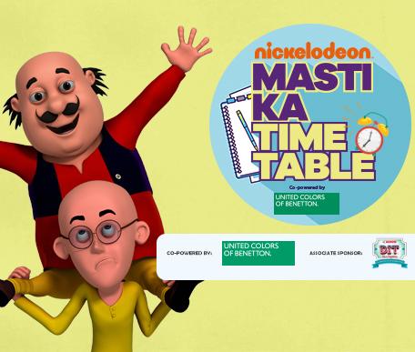Nickelodeon Masti Ka Time Table
