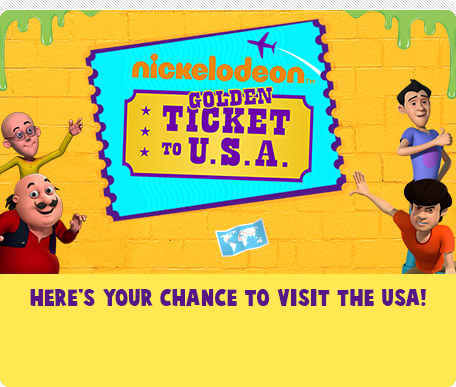 Nickelodeon Golden Ticket To U.S.A.